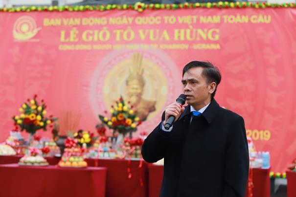 Đại sứ Nguyễn Anh Tuấn tham dự Lễ Giỗ Tổ Vua Hùng 2019 với cộng đồng người Việt Nam tại Kharkiv - Ukraina
